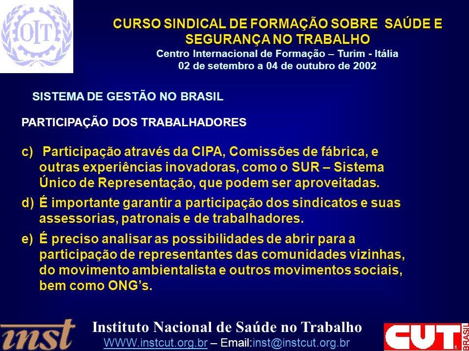 SISTEMA DE GESTÃO NO BRASIL
