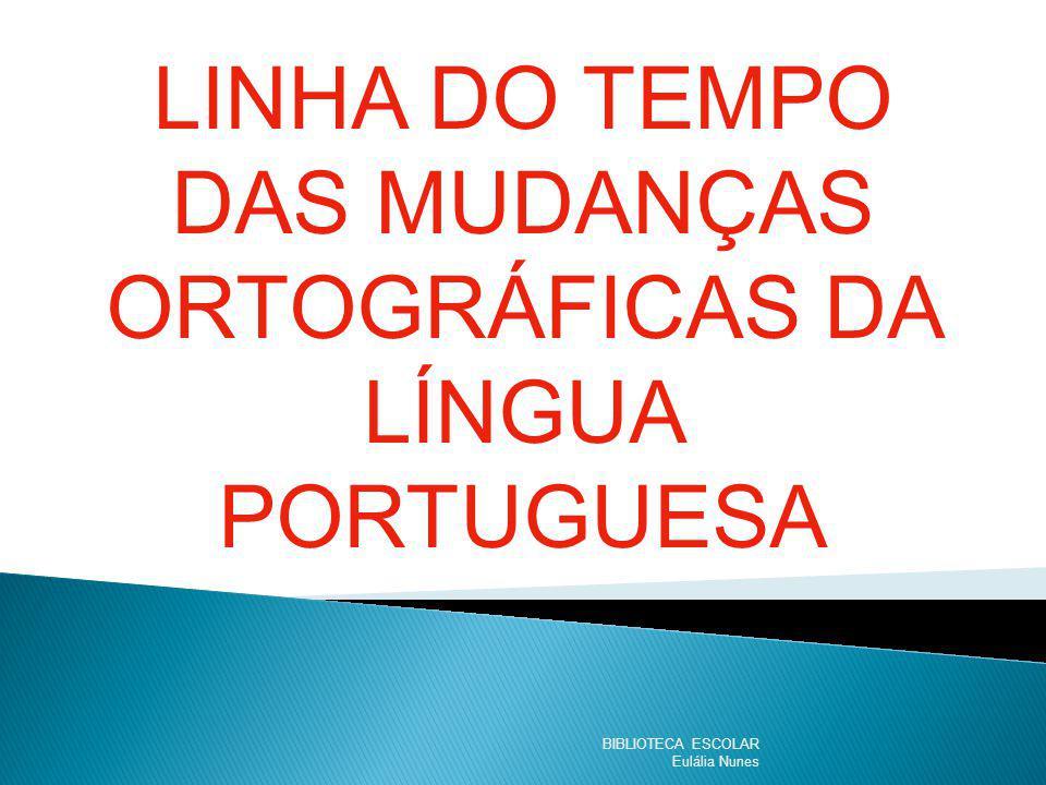 LINHA DO TEMPO DAS MUDANÇAS ORTOGRÁFICAS DA LÍNGUA PORTUGUESA