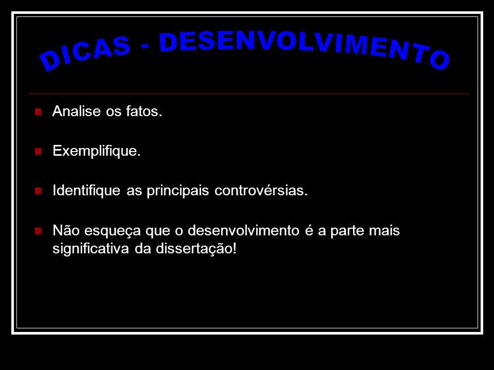 DICAS - DESENVOLVIMENTO