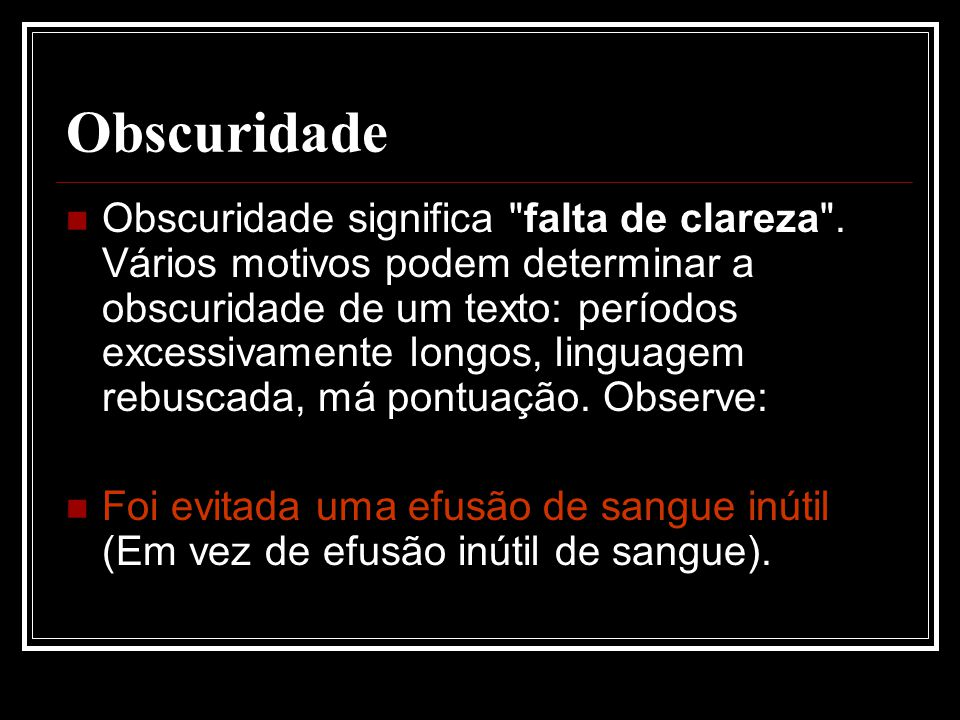 Obscuridade