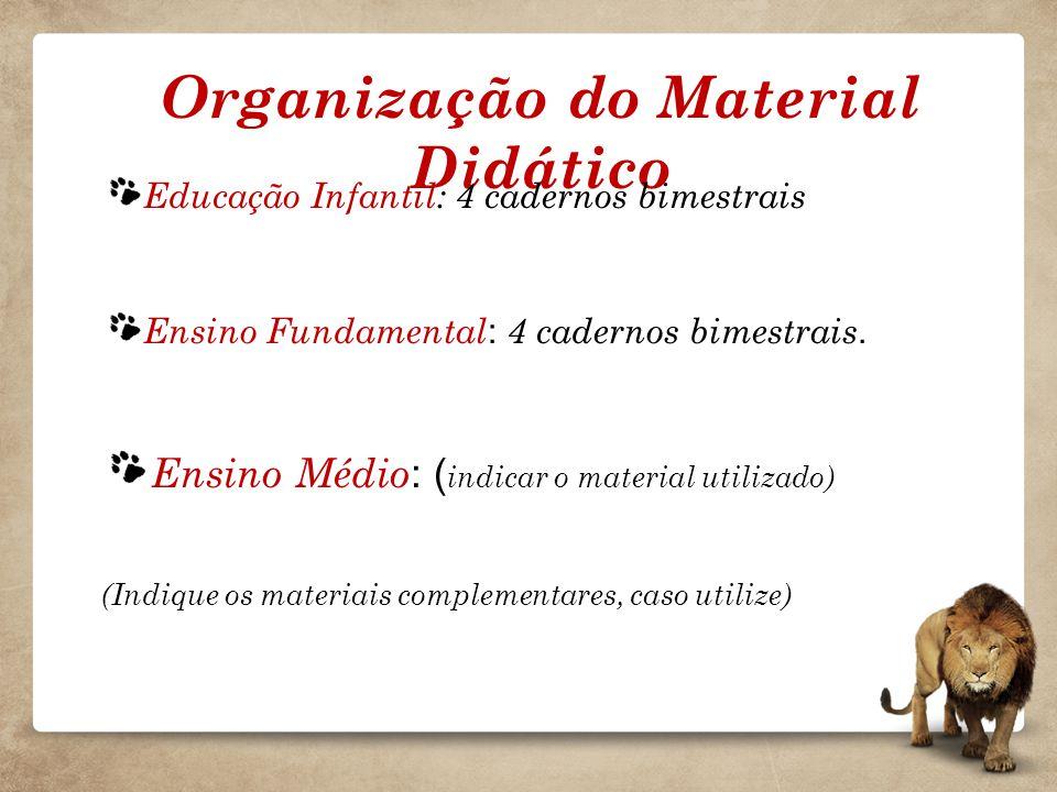 Organização do Material Didático