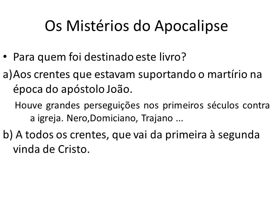 Os Mistérios do Apocalipse
