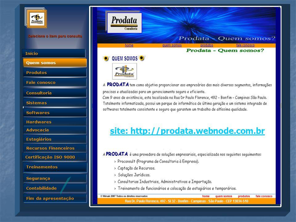 site: http://prodata.webnode.com.br
