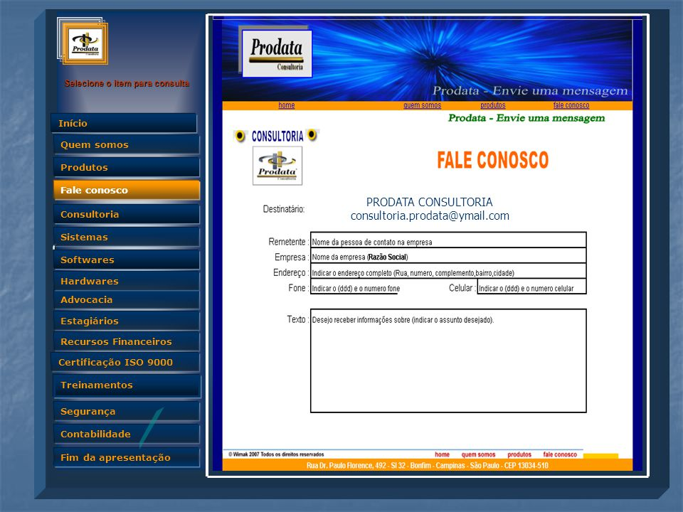 PRODATA CONSULTORIA consultoria.prodata@ymail.com