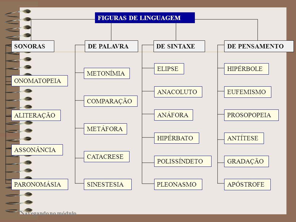 FIGURAS DE LINGUAGEM SONORAS DE PALAVRA DE SINTAXE DE PENSAMENTO