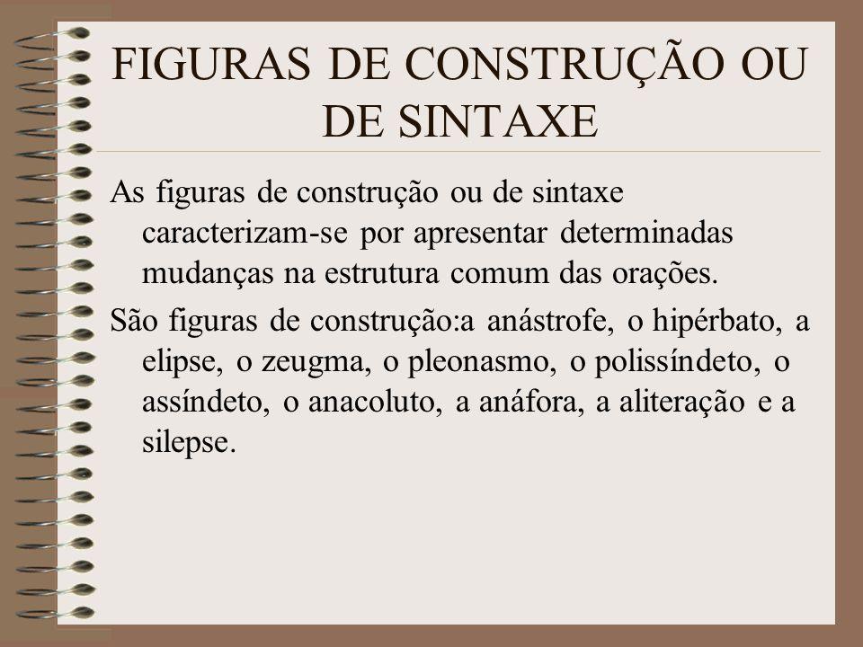 FIGURAS DE CONSTRUÇÃO OU DE SINTAXE