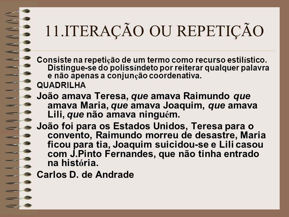 11.ITERAÇÃO OU REPETIÇÃO