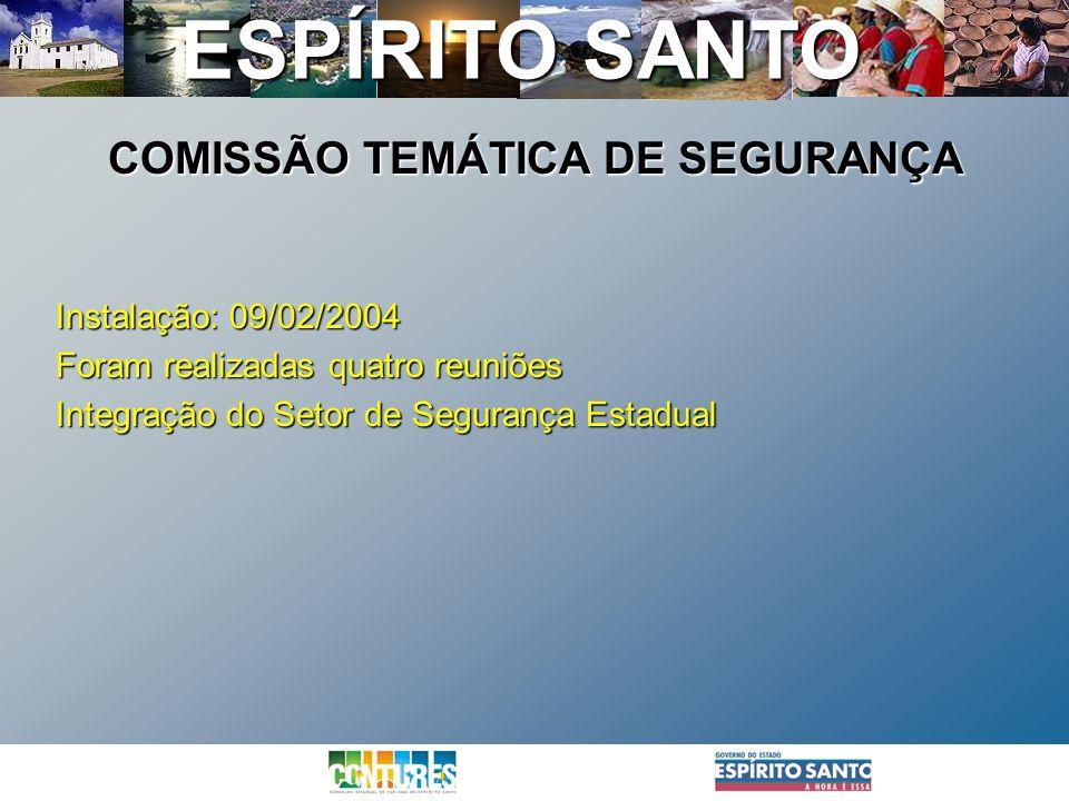 COMISSÃO TEMÁTICA DE SEGURANÇA