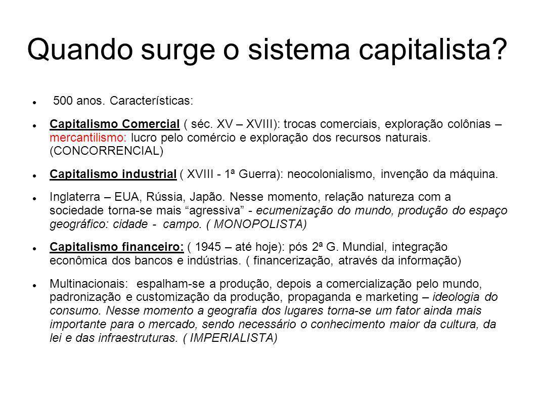 Quando surge o sistema capitalista