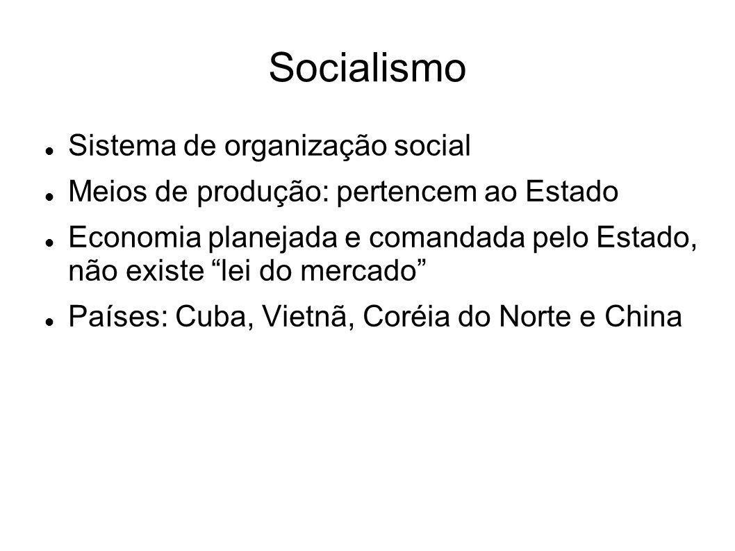 Socialismo Sistema de organização social