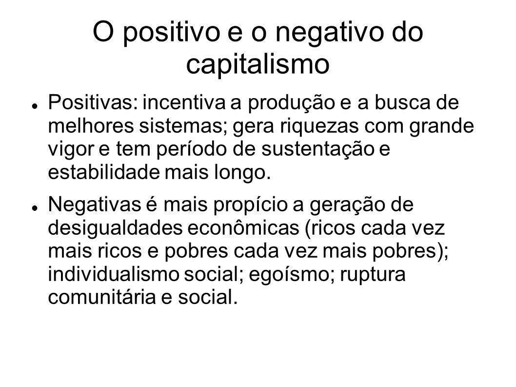 O positivo e o negativo do capitalismo