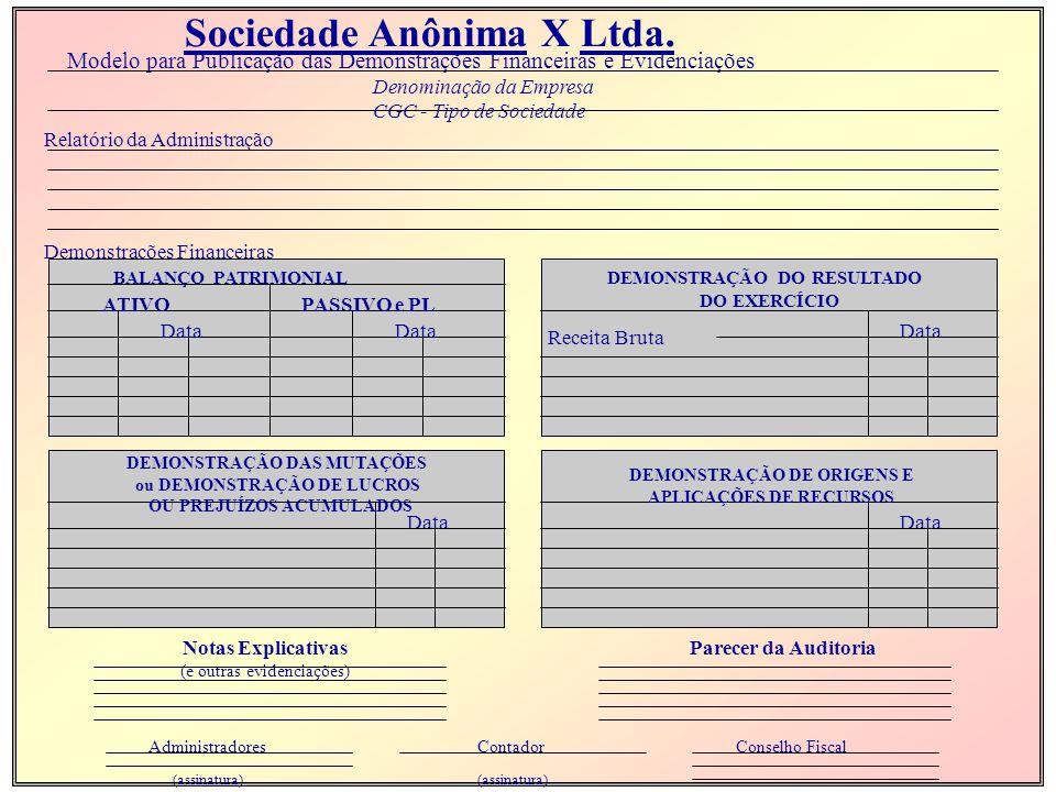 Sociedade Anônima X Ltda.