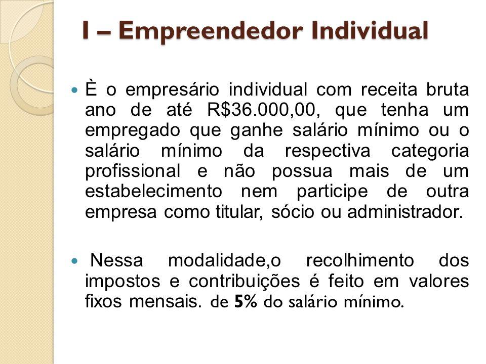 I – Empreendedor Individual