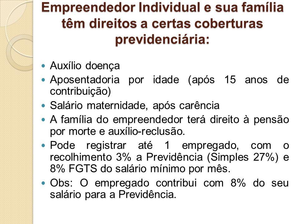 Empreendedor Individual e sua família têm direitos a certas coberturas previdenciária: