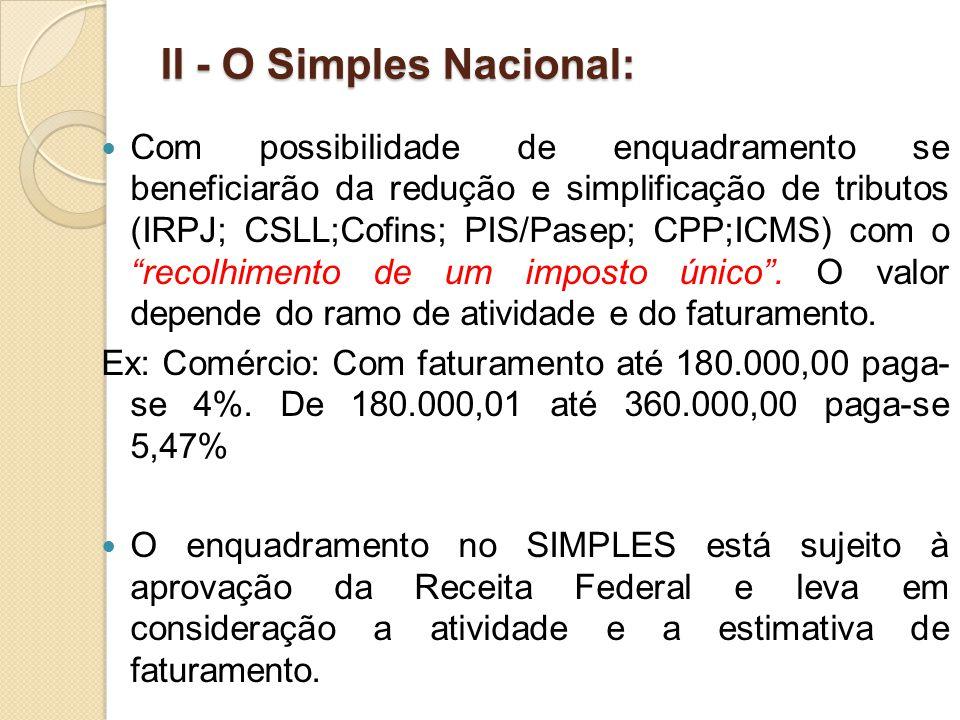 II - O Simples Nacional: