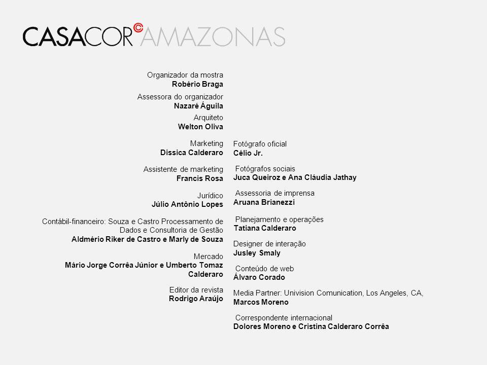 Organizador da mostra Robério Braga. Assessora do organizador. Nazaré Águila. Arquiteto. Welton Oliva.