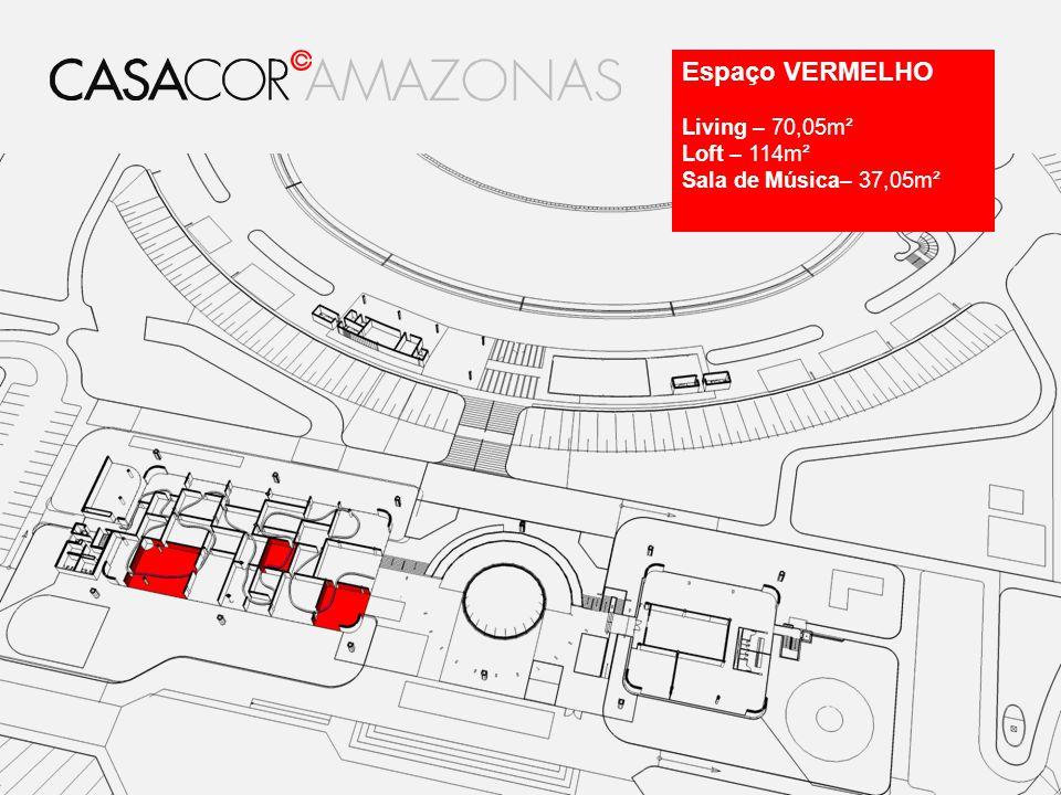 Espaço VERMELHO Living – 70,05m² Loft – 114m² Sala de Música– 37,05m²