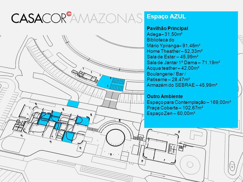 Espaço AZUL Pavilhão Principal Adega– 31,50m² Biblioteca do