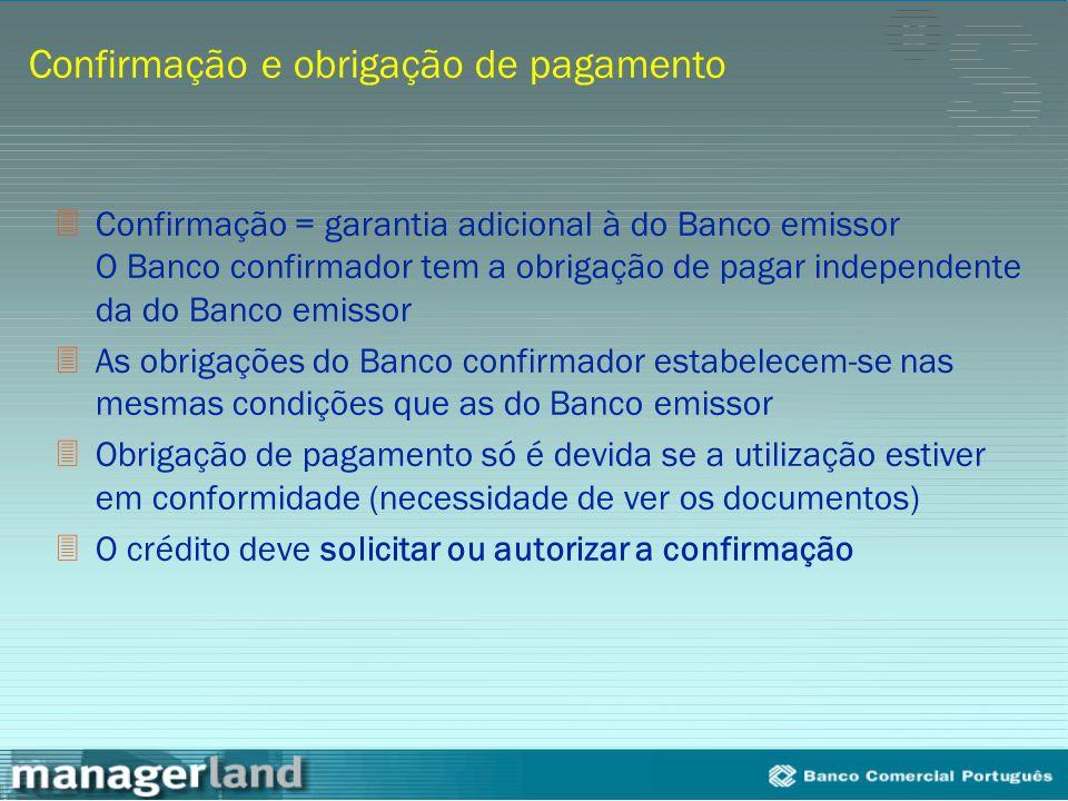 Confirmação e obrigação de pagamento