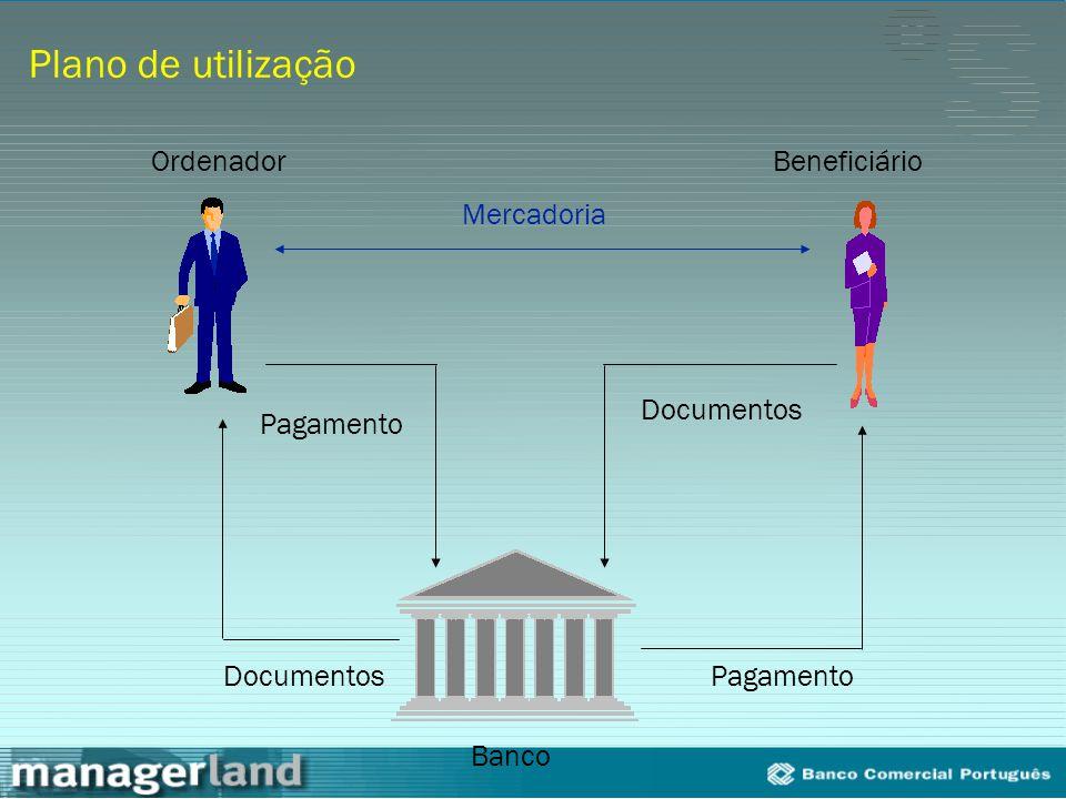 Plano de utilização Ordenador Beneficiário Mercadoria Documentos