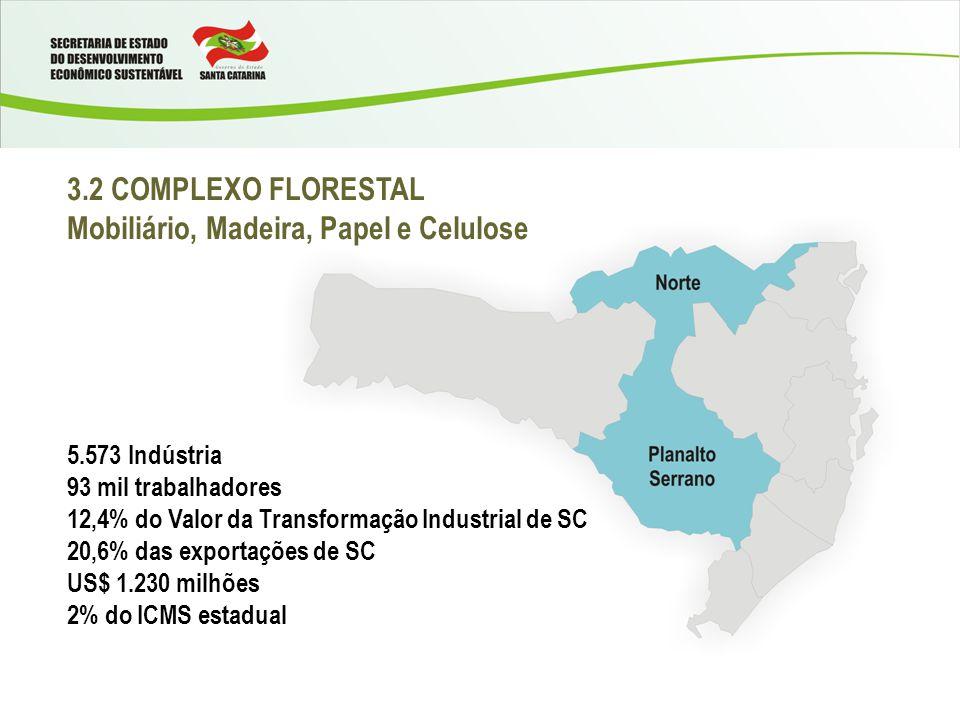 Mobiliário, Madeira, Papel e Celulose