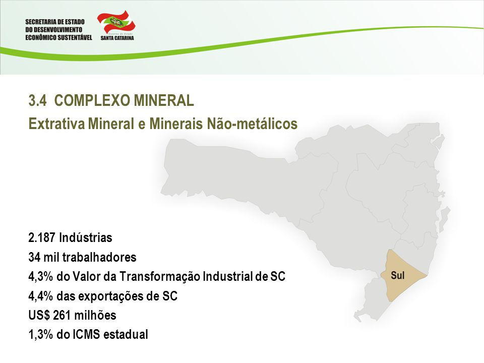 Extrativa Mineral e Minerais Não-metálicos