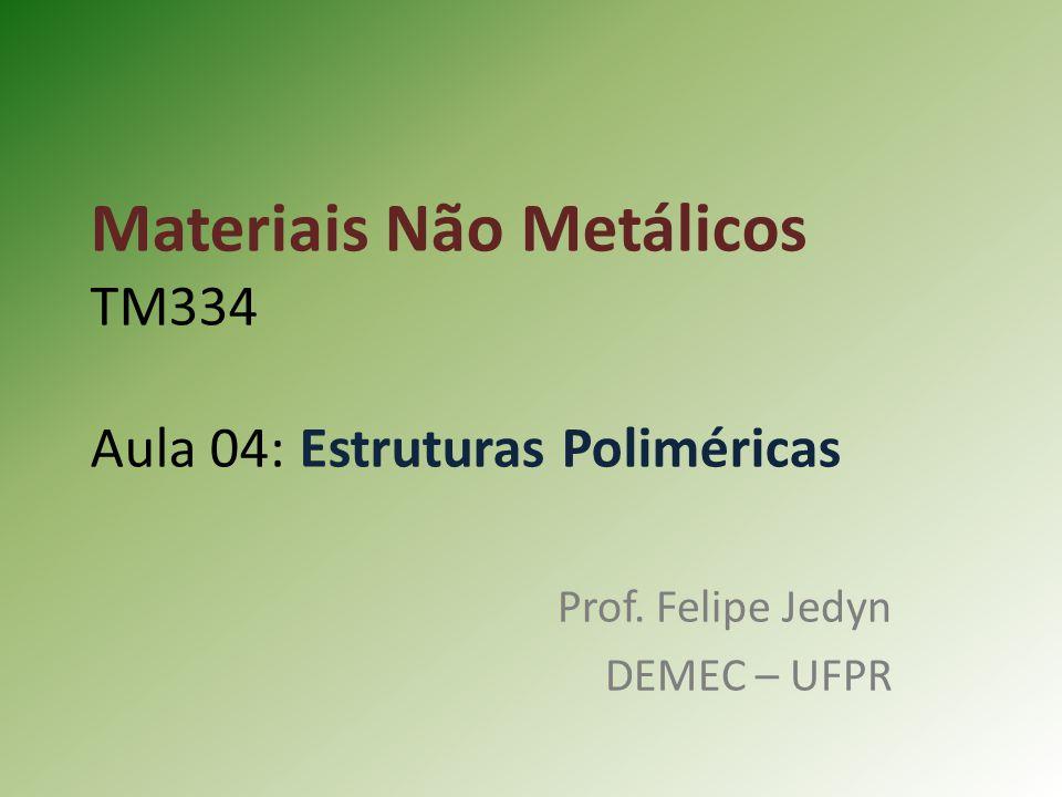 Materiais Não Metálicos TM334 Aula 04: Estruturas Poliméricas