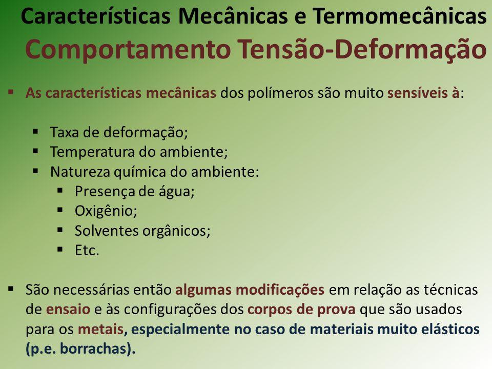 Características Mecânicas e Termomecânicas Comportamento Tensão-Deformação