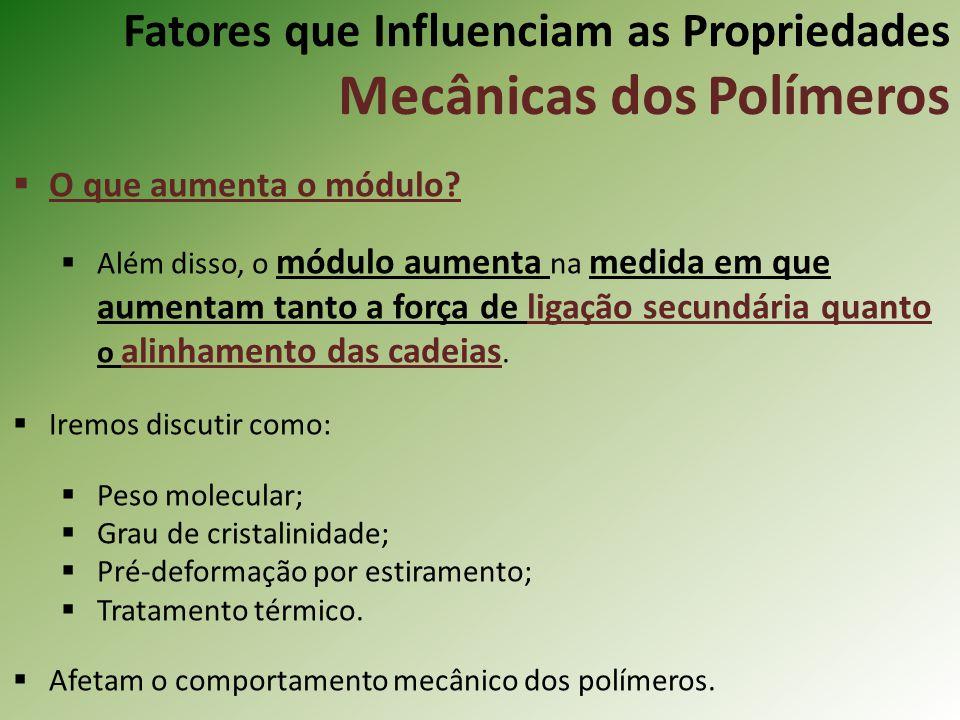 Fatores que Influenciam as Propriedades Mecânicas dos Polímeros