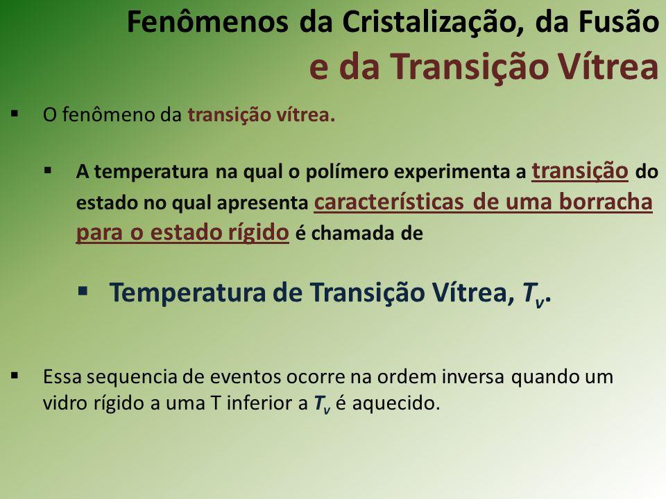 Fenômenos da Cristalização, da Fusão e da Transição Vítrea