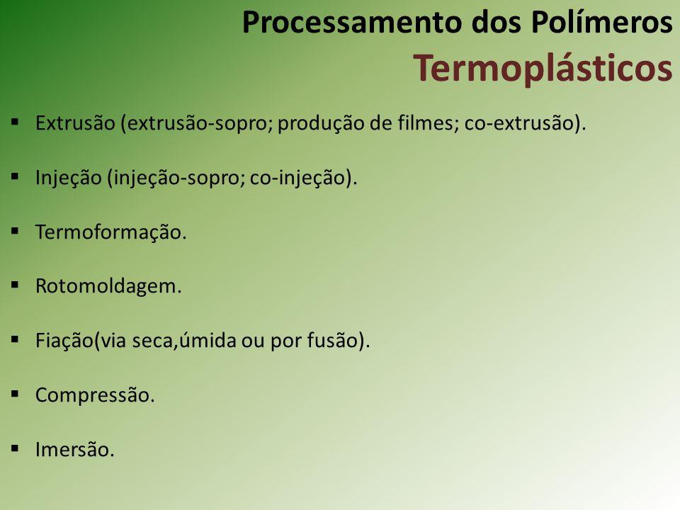 Processamento dos Polímeros Termoplásticos