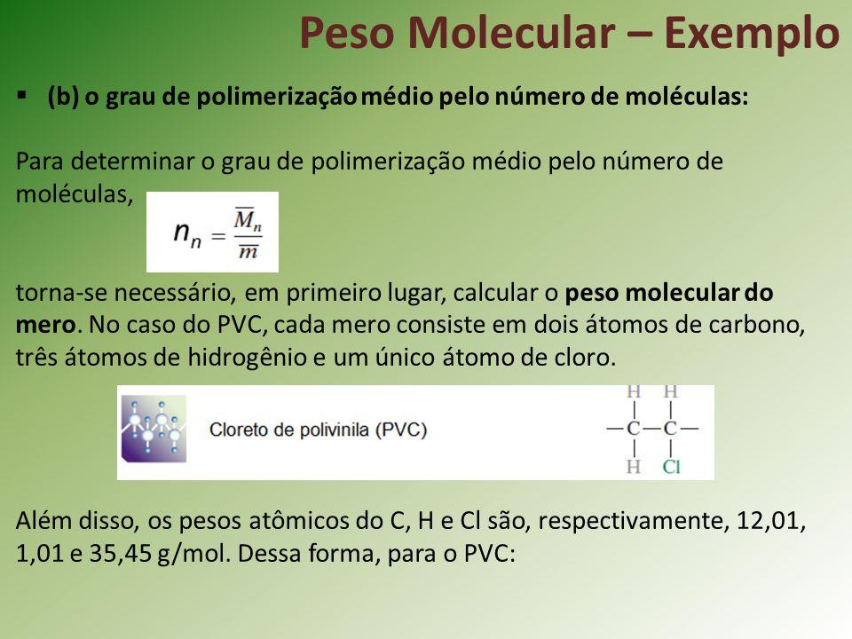 Peso Molecular – Exemplo