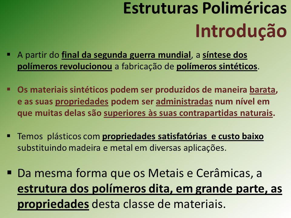 Estruturas Poliméricas Introdução