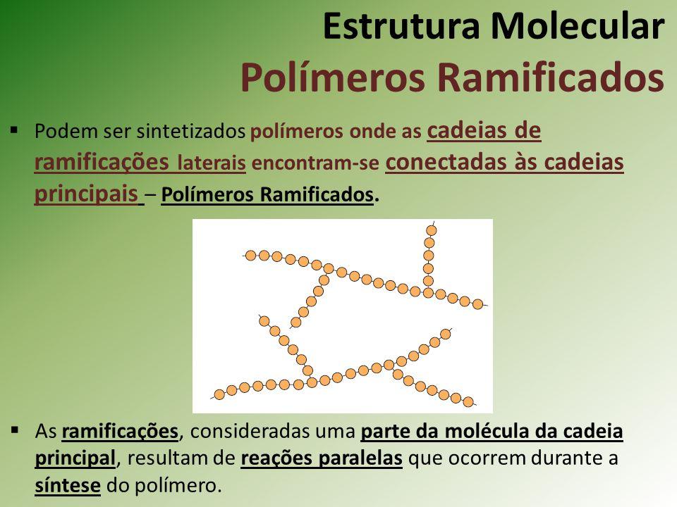 Estrutura Molecular Polímeros Ramificados