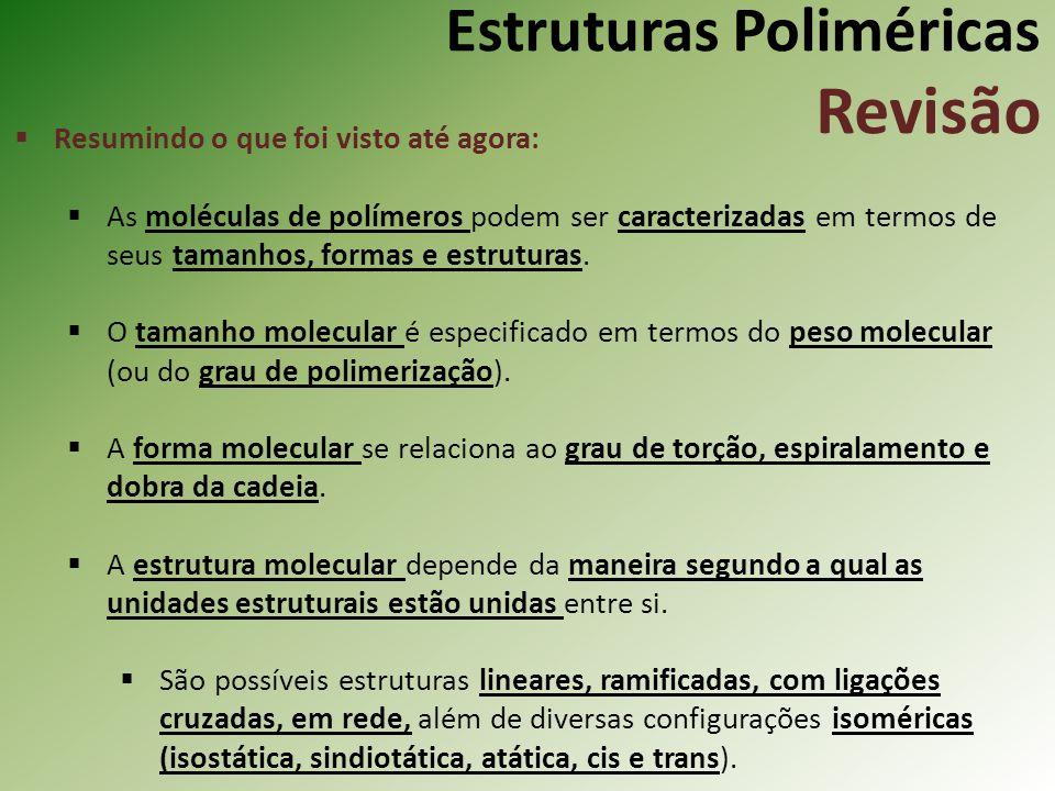 Estruturas Poliméricas Revisão