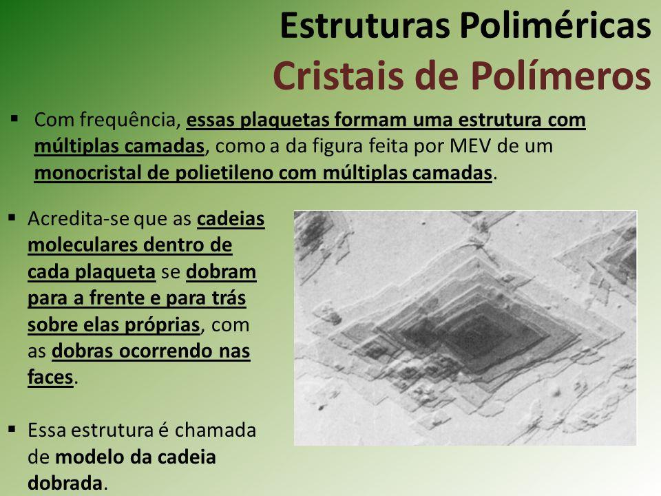 Estruturas Poliméricas Cristais de Polímeros