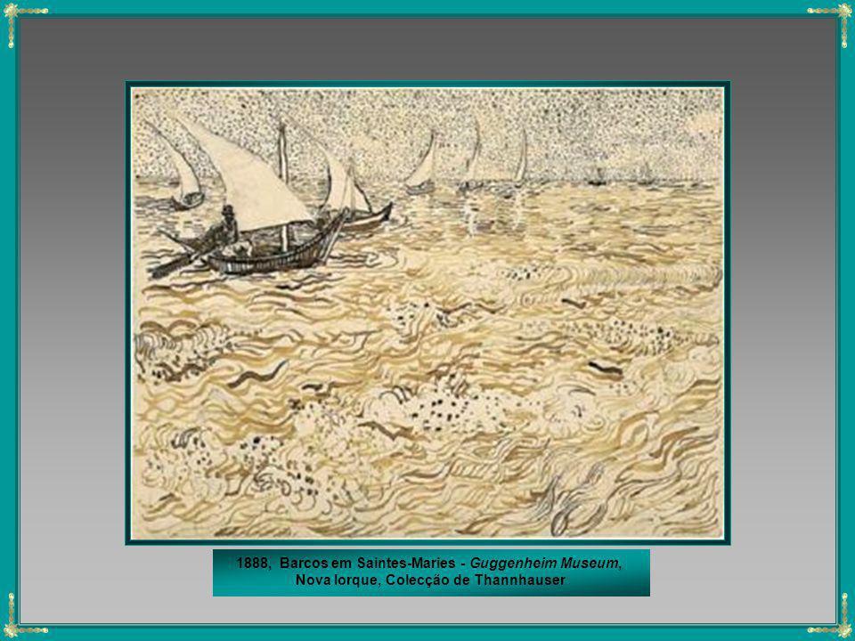 1888, Barcos em Saintes-Maries - Guggenheim Museum,