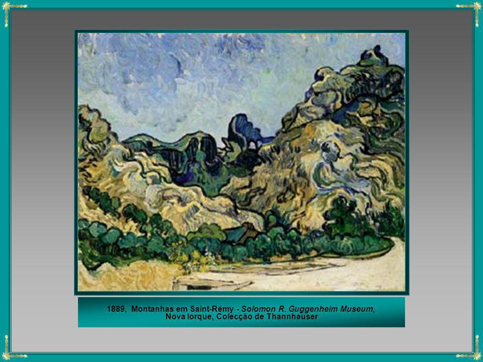 1889, Montanhas em Saint-Rémy - Solomon R. Guggenheim Museum,