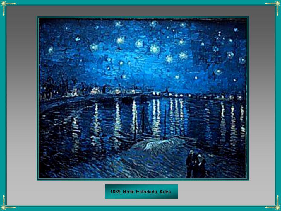 1889, Noite Estrelada, Arles