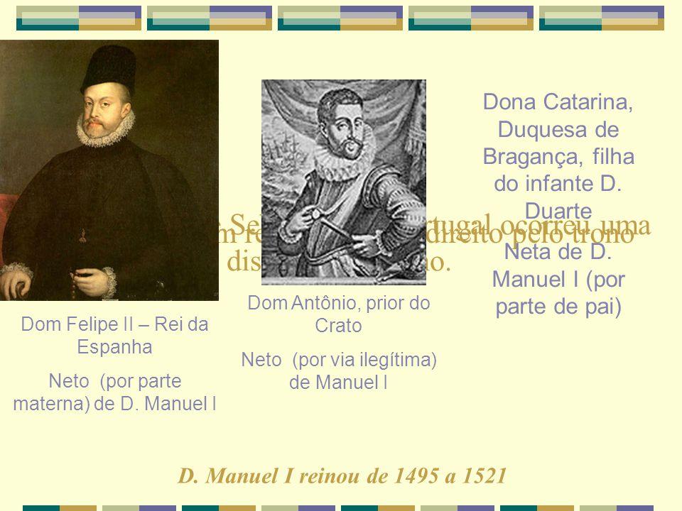 Com a morte de Sebastião de Portugal ocorreu uma disputa pelo trono.