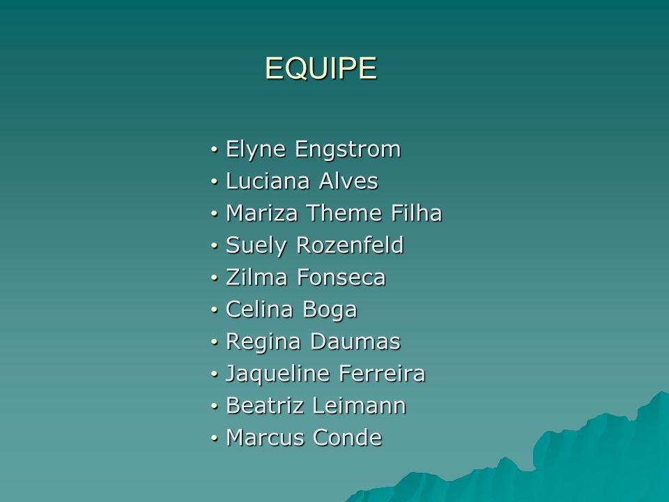 EQUIPE Elyne Engstrom Luciana Alves Mariza Theme Filha Suely Rozenfeld