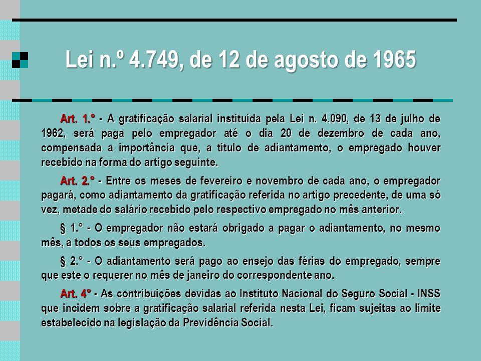 Lei n.º 4.749, de 12 de agosto de 1965