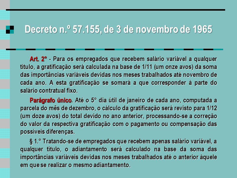Decreto n.º 57.155, de 3 de novembro de 1965