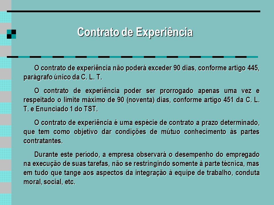 Contrato de Experiência