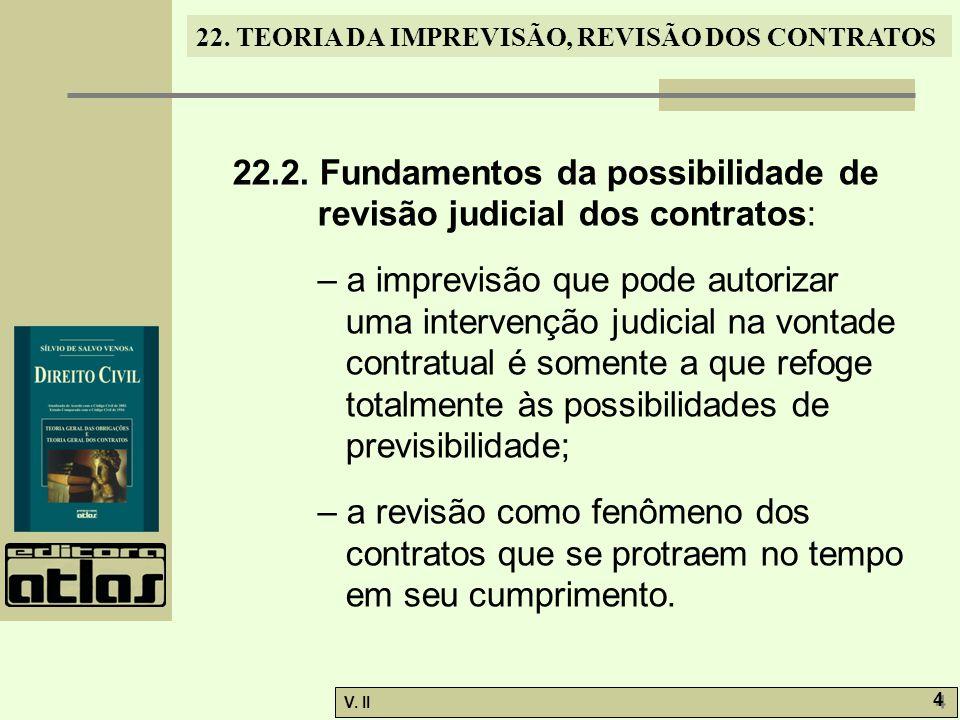 22.2. Fundamentos da possibilidade de revisão judicial dos contratos: