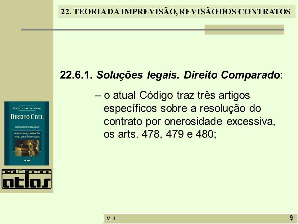 22.6.1. Soluções legais. Direito Comparado:
