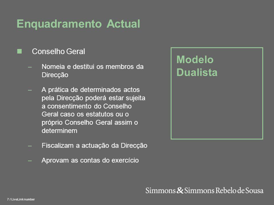 Enquadramento Actual Modelo Dualista Conselho Geral