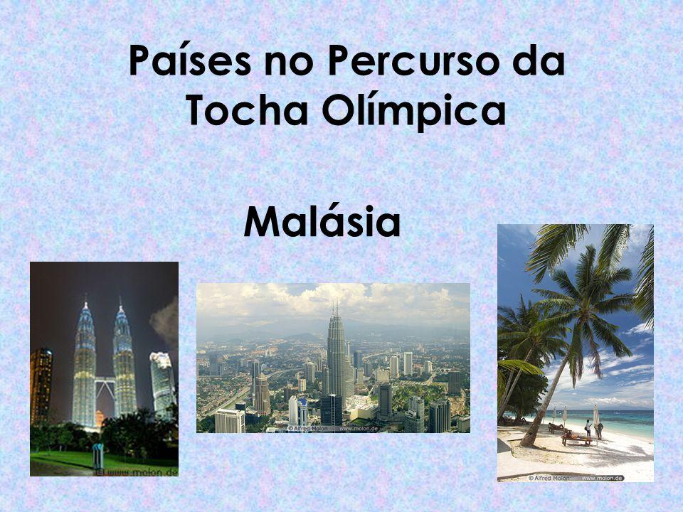 Países no Percurso da Tocha Olímpica