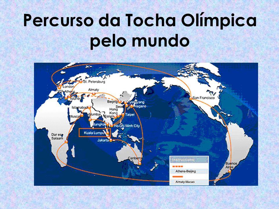 Percurso da Tocha Olímpica pelo mundo