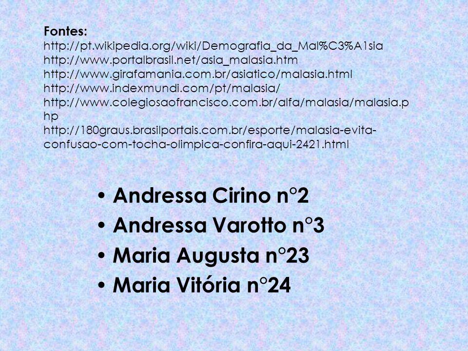 Andressa Cirino n°2 Andressa Varotto n°3 Maria Augusta n°23